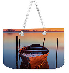 Winter Sunbathing Weekender Tote Bag
