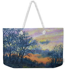 Winter Sundown Sketch Weekender Tote Bag by Kathleen McDermott