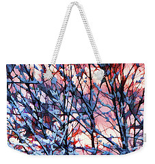 Winter Sunrise Weekender Tote Bag