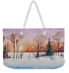 Winter Sunrise Weekender Tote Bag by Geni Gorani