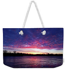 Winter Sunrise On The Wisconsin River Weekender Tote Bag