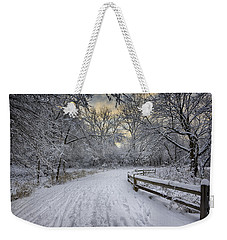 Weekender Tote Bag featuring the photograph Winter Sunrise by Sebastian Musial