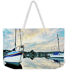Winter Sunset At Mylor Bridge Weekender Tote Bag