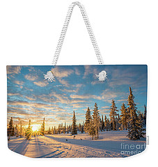 Winter Sunset Weekender Tote Bag by Delphimages Photo Creations