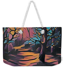 Winter Sunset Digital  Weekender Tote Bag