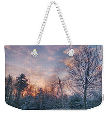 Winter Sunset In New England Weekender Tote Bag