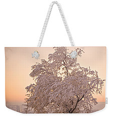Weekender Tote Bag featuring the photograph Winter Sunset by Marilyn Hunt
