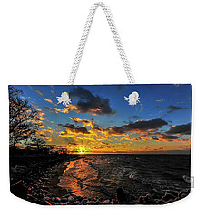 Winter Sunset On A Chesapeake Bay Beach Weekender Tote Bag