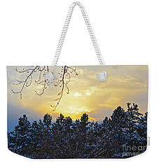 Winter Sunset On The Tree Farm #1 Weekender Tote Bag