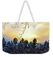Winter Sunset On The Tree Farm #2 Weekender Tote Bag
