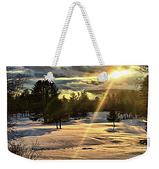Winter Sunset Rays  Weekender Tote Bag