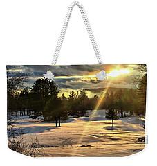 Winter Sunset Rays  Weekender Tote Bag