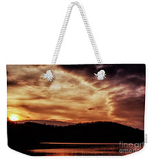 Weekender Tote Bag featuring the photograph Winter Sunset by Thomas R Fletcher