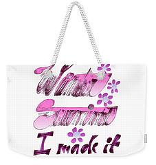 Winter Survivor Weekender Tote Bag