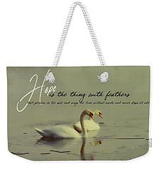 Winter Swans Quote Weekender Tote Bag
