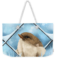 Weekender Tote Bag featuring the painting Winter Sweetness  by Veronica Minozzi