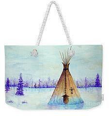 Winter Tepee Weekender Tote Bag