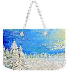 Winter Weekender Tote Bag by Teresa Wegrzyn