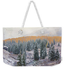 Winter Touches The Mountain Weekender Tote Bag