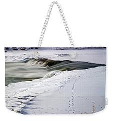 Winter Tracks Weekender Tote Bag by Eric Nielsen