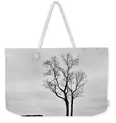 Winter Trees And Fences Weekender Tote Bag