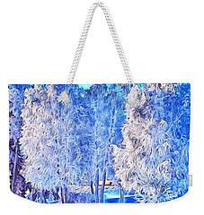 Winter Trees Weekender Tote Bag by Ron Bissett