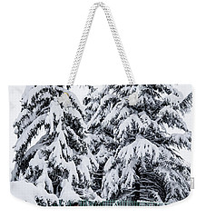Winter Trekking Weekender Tote Bag