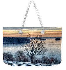 Winter Twilight At Fort Allen Park Weekender Tote Bag