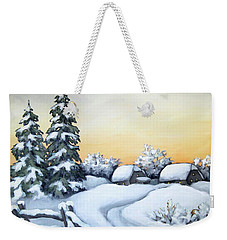Winter Twilight Weekender Tote Bag