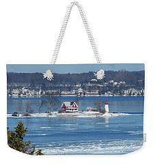 Winter View Of Crossover Island Weekender Tote Bag