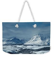 Winter View Of Rising Wolf Mountain Weekender Tote Bag