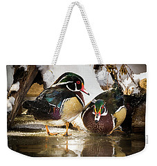 Winter Visitors - Wood Ducks Weekender Tote Bag