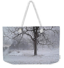 Weekender Tote Bag featuring the photograph Winter Walnut by Denise Romano