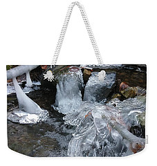 Winter Water Flow 4 Weekender Tote Bag