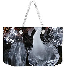 Winter Water Flow 5 Weekender Tote Bag
