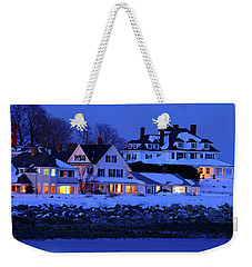 Winter Waterfront Weekender Tote Bag