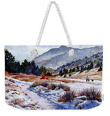 Winter Wonderland Weekender Tote Bag by Anne Gifford