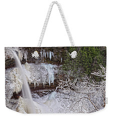 Winter Wonderland At Kaaterskill Falls Weekender Tote Bag