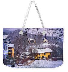 Winter Wonderland In Mondsee Austria  Weekender Tote Bag