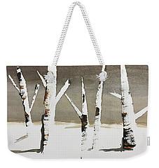 Winter Wood Weekender Tote Bag