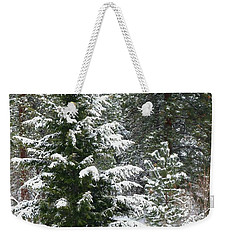 Weekender Tote Bag featuring the photograph Winter Woodland by Will Borden