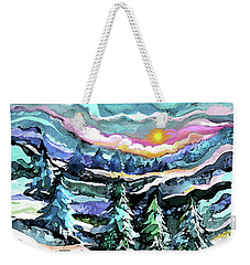 Winter Woods At Dusk Weekender Tote Bag