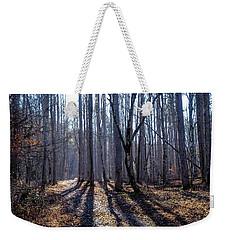 Winter Woods Weekender Tote Bag