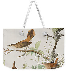 Winter Wren Or Rock Wren Weekender Tote Bag by John James Audubon