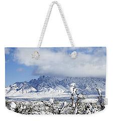 Weekender Tote Bag featuring the photograph Organ Mountains Winter Wonderland by Kurt Van Wagner