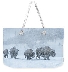 Winter's Burden Weekender Tote Bag