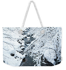 Weekender Tote Bag featuring the photograph Winters Creek- by JD Mims