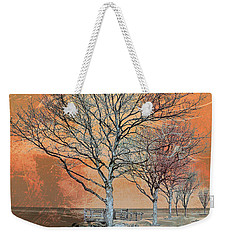 Weekender Tote Bag featuring the photograph Winter's Dawn by Shawna Rowe
