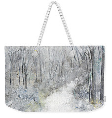 Weekender Tote Bag featuring the painting Winter's Day by Robin Maria Pedrero