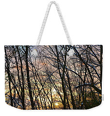 Weekender Tote Bag featuring the photograph Winter's Delight by Corinne Rhode